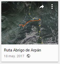 Mapa Ruta de Arpán