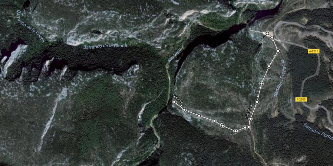 Mapa Tozal de Mallata